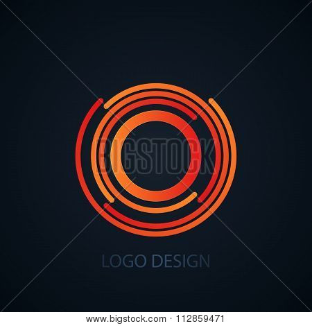 Vector illustration of logo letter o