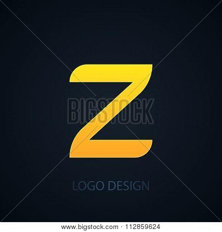 Vector illustration of logo letter z
