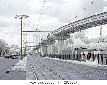 Moscow. Urban Landscape. Infrared Photography
