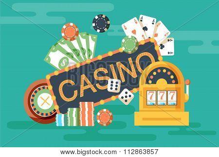 Casino horizontal banner
