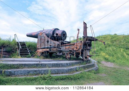 Old Cannon In The Sea Fortress Of Suomenlinna