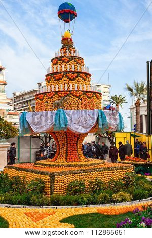 Lemon Festival (Fete du Citron) on the French Riviera.