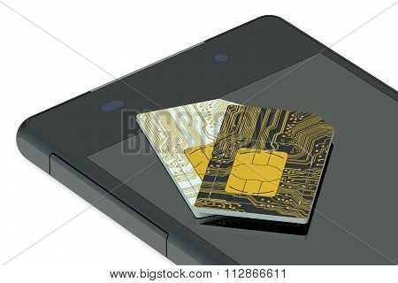 Two Sim Cards And Phone