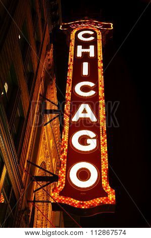 Chicago Theather Neon Sign