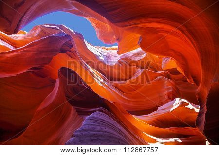 Lower Antelope Canyon View Near Page, Arizona