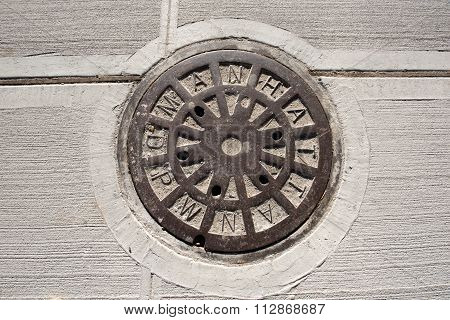 Manhole of the Manhattan sewage system