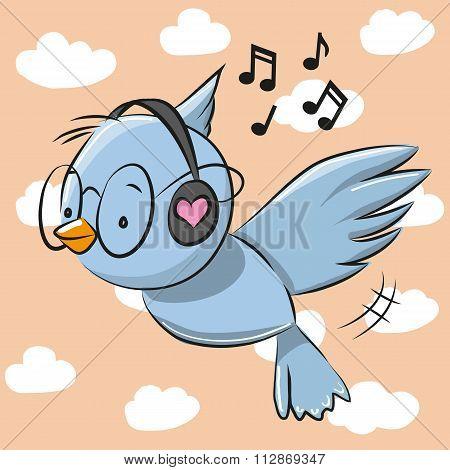 Bird With Headphones