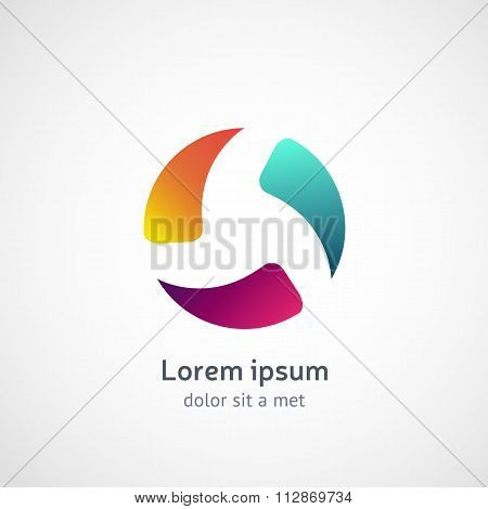 Abstract sphere logo. Business, Corporate, Media, Technology, Ec