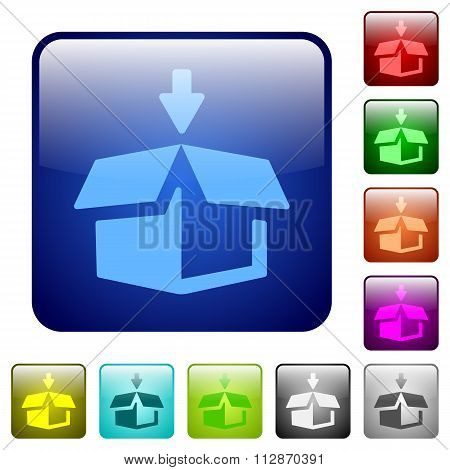 Color Pack Square Buttons