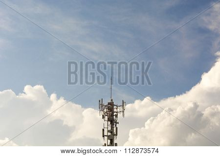tower on a sky