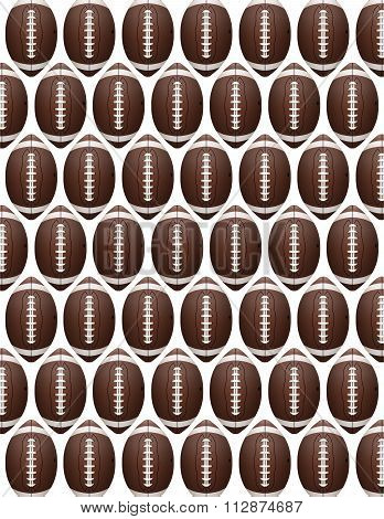 Vector American Football Pattern
