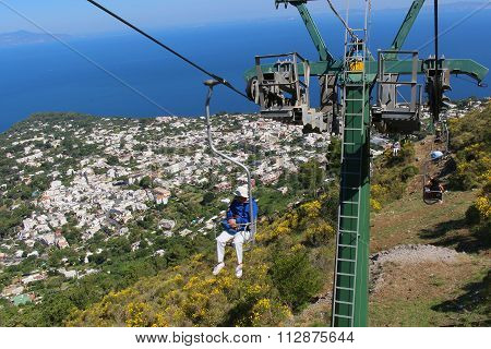 Capri Chairlift To Mount Solaro