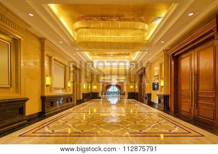 decoration and design in luxury entrance hall