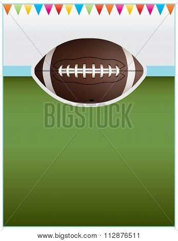 Vector Football Party Flyer Background
