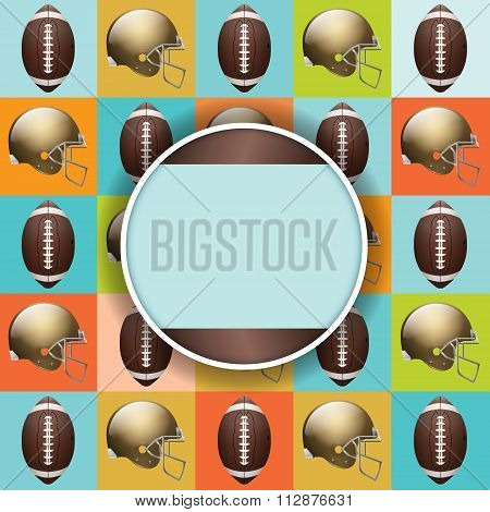Vector Football Pattern Party Invitation