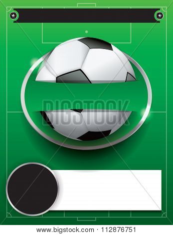 Vector Soccer Football Tournament Template Illustration