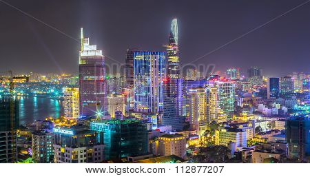 Saigon sparkling nightlife