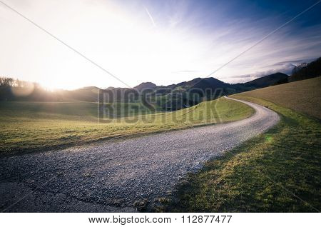 Path In The Mountains
