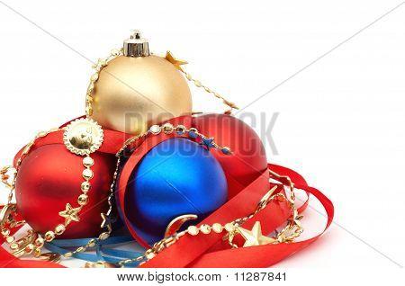 rot und blau Christmas blubs
