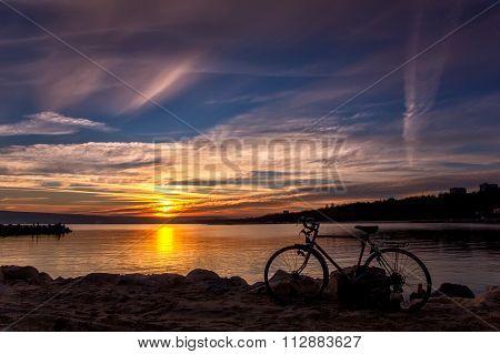 beautiful sunset on the bay