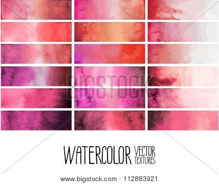 Red watercolor gradient rectangles