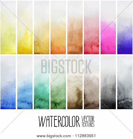 Watercolor gradient rectangles
