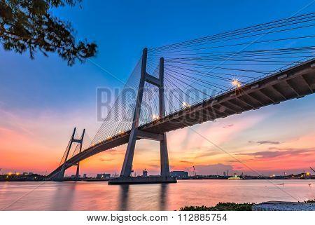 Architectural beauty of Phu My bridge wire