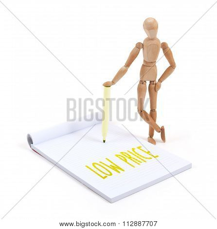 Wooden Mannequin Writing - Low Price
