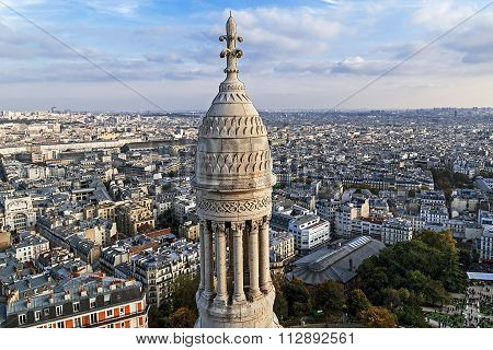 Rooftop And Aerial View From Basilica Sacre Coeur