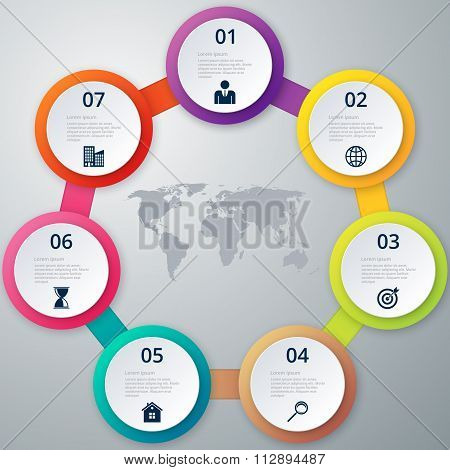 Vector illustration of a circle infographics.