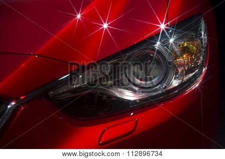 Car headlight with stars