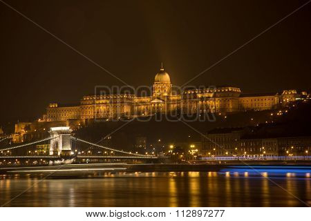 Budapest At Night - Buda Castle View