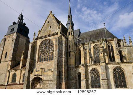Historical Church Of Nogent Le Roi In Eure Et Loir