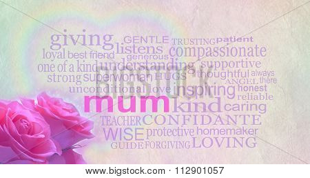 Mother's day background banner