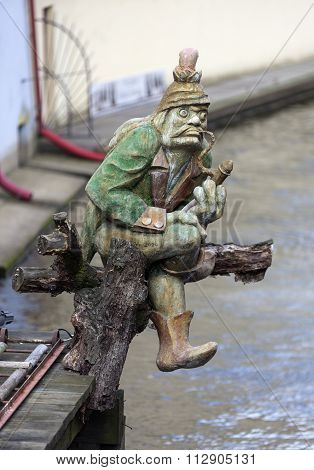 PRAGUE, CZECH REPUBLIC - DECEMBER 23, 2015: Photo of Statue of nix - Kabureka on your computer.