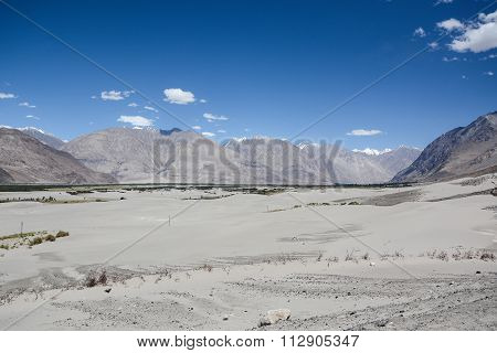 Desert Of Nubra Valley At Ladakh, India