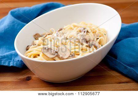 Linguine Alfredo With Mushrooms