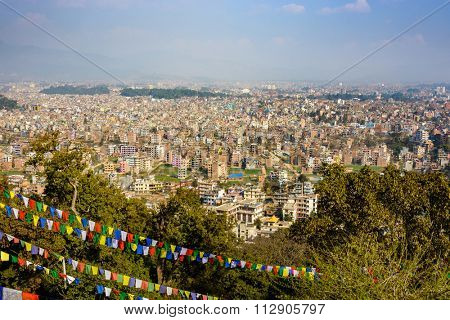 Kathmandu city view from Swayambhunath, Nepal