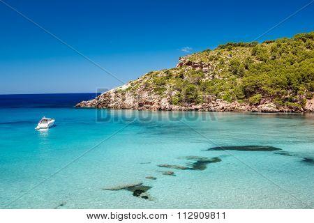 Menorca seascape at cala de Algariens, Spain.