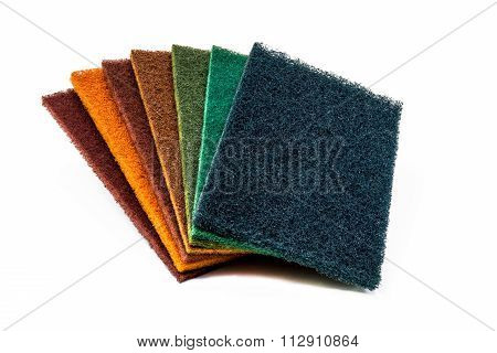 Set of 7 colors Scrubber Pads
