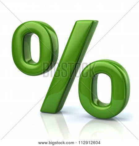Green Percent Sign