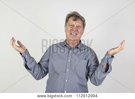 Portrait Of Fifty Year Old Man Showing Emotions
