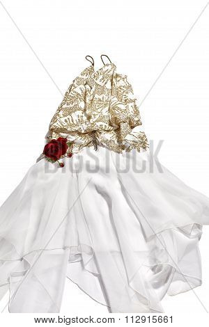 Woman's Party Dress with a Rose