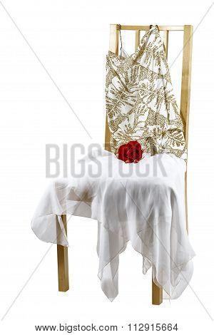 Woman's Evening Dress On A Chair