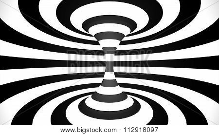 Abstract Spiral Circle Black And White