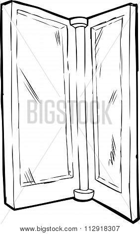 Isolated Revolving Door Outline