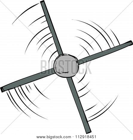 Top View Of Propeller Spinning