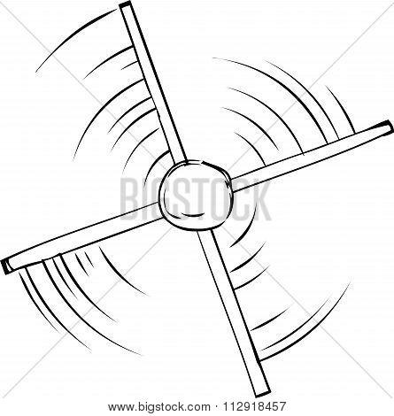 Outline Of Propeller Spinning