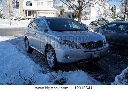 Lexus in a Driveway