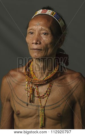 Portrait Of Solomon, 57, The Indigenous Inhabitants Ethnic.